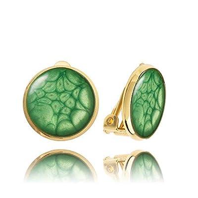 Clip Vert émeraude Sur les Boucles D'oreilles Womans Gift par Dragon Porter
