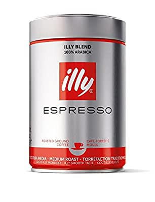 Illy Espresso Ground Coffee 250g (Pack of 1) by Groceries