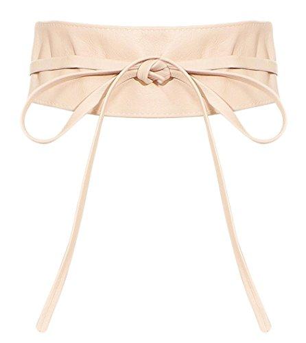 malito Damen Taillengürtel | Echtleder Bindegürtel | breiter Wickelgürtel - Ledergürtel - Hüftgürtel G100 (rosa) -