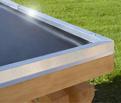 3,05m Breite EPDM-Folie 1,52 mm für Carport, Garage, Vordächer oder Pergola; PREIS je m²