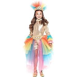 COSTUME di CARNEVALE da BRASILIANA PRESTIGE BABY vestito per bambina ragazza 1-6 Anni travestimento veneziano halloween cosplay festa party 28050 Taglia 4
