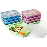 Set de 9colores reusable-easy para limpiar Almuerzo Kits- dividido fiambreras para niños y adultos. Tamaño perfecto para tus comidas. recomendado para Saludable Comidas Para Usted.
