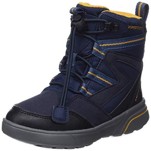Geox Jungen J SVEGGEN Boy B ABX D Schneestiefel, Blau (Navy/Yellow C0657), 35 EU