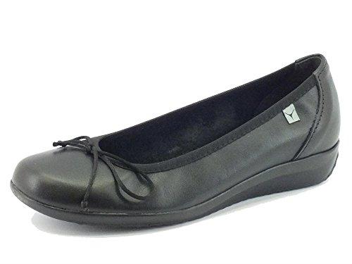 Ballerine Cinzia Soft per donna in pelle nera (Taglia 40)