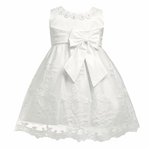 iiniim Baby Mädchen Prinzessin Kleid Blumenmädchenkleid Taufkleid Festlich Kleid Hochzeit Partykleid Festzug Babybekleidung Gr. 68-92 Ivory 86-92 / 18-24 Monate (Perlen Abendkleid Voll Gefüttert)