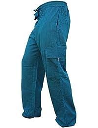 1fe0aaf79cb1b Shopoholic Mode Homme Poche Latérale Léger Coton Bohème Hippie Pantalon