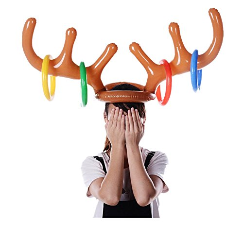 Christmas Party Dress Up Games: Toamen Dress Up Toys, Inflatable Reindeer Christmas Hat