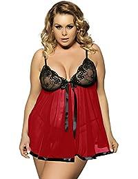 40c7d502e3 Yummy Bee Lingerie Plus Size 6-30 Babydoll Nightwear Set Women Chemise  Sleepwear