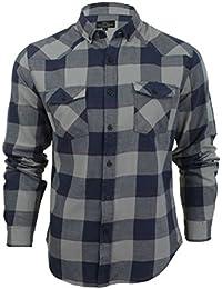 Para hombre Smith y Jones Exedra Plaid Check camisa de algodón de franela