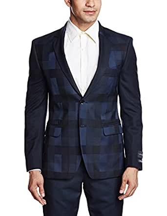 Arrow New York Men's Slim Fit Blazer (8907259382722_ABQY9704_46_Dark Blue)