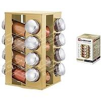 Beryl Oro Cucina Portaspezie porta Gems Revolving metallico porta spezie