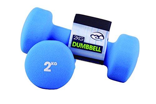 Fitness-Mad, Manubri in Neoprene, Blu (Blue), 2 x 2Kg