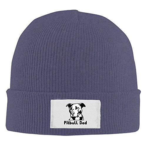 Astro Hunde Kostüm - Hoklcvd Pitbull Dad Unisex Strickmütze 100% Acryl Daily Warm Soft Hats Schwarz New17