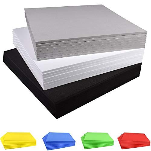 Fertigen Sie Schaum-Blatt-EVA-Schaum-Blätter, 9.6 × 9.6 Zoll, 8 Satz, Stärke 3mm / 5mm / 7mm / 10mm, für Cosplay Kostüm-Papier Scrapbooking Foamie Handwerk-Kind-Kissen besonders an