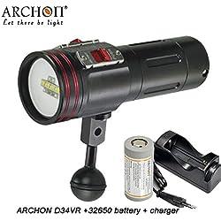 Archon D34VR / W40VR Lampe de poche de plongée sous-marine 4 couleurs CREE LED