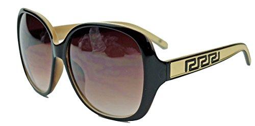 amashades Vintage Classics Große Damen Sonnenbrille im Designer Stil Butterfly Modell 70er Jahre V291 (Gold/Cream)