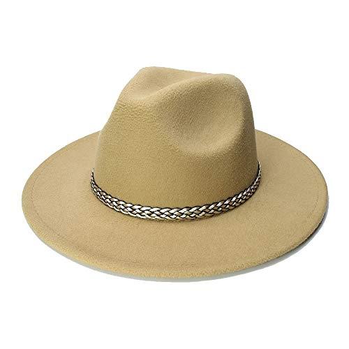 MTX-Sonnenhüte Hut, Art und Weise breiter Rand-Herbst-weiblicher Art- und Weisehut-Hut Jazz-Kappen-Winter-Fedora-Hut-Woolen Kappen 2018 Ankunfts-Schwarz-Hüte für Frauen