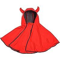 Fiesta De Unica Diablo Niñas Infantil Capa Talla Disfraces Halloween Y Para Niños 70cm Del Shafier vB6wq