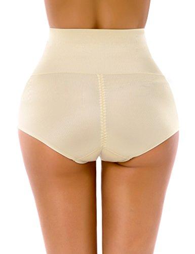 Yulee Donna Mutanda Snellente a Vita Alta Pancia Controllo Intima Guaina Contenitiva Modellante Shapewear Nude