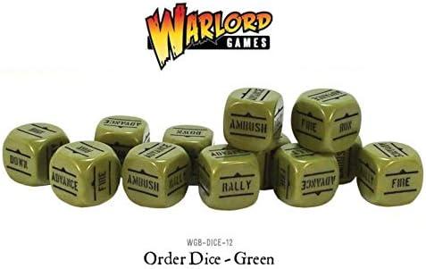 Green Pack Of 12 Bolt Action Orders Orders Orders Dice   Perpignan  d2338f