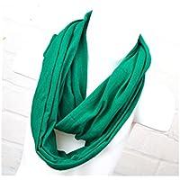 Loop Schal für Kinder und Jugendliche einfarbig smaragdgrün Jungen und Mädchen