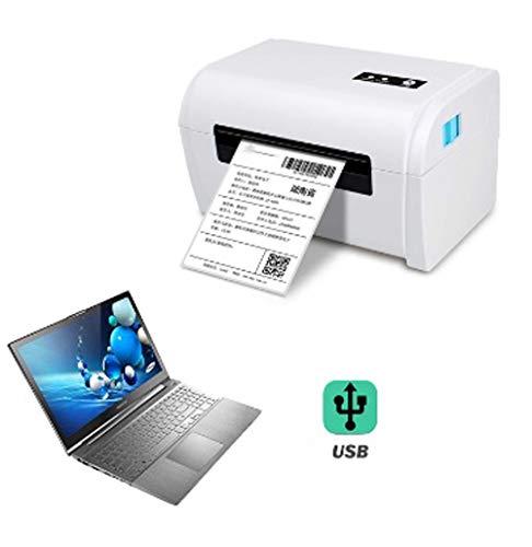 QWERTOUY Bluetooth Thermo-Etikettendrucker 4-Zoll-Thermodrucker für die Adress Barcode Maker mit USB/Bluetooth Auto Peeling,B