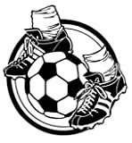 Fußballschuhe Fußball 15cm Aufkleber ohne Hintergrund von SUPERSTICKI® aus Hochleistungsfolie für alle glatten Flächen UV und Waschanlagenfest Tuning Profi Qualität Auto KFZ Scheibe Lack Profi-Qualität