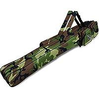 normani Kurze Allround Rutentasche 150 cm RodBox Double - 2 Fächer für 4 Steckruten und 5Fächer für Kescher und Vorfachmaterial Fächer für Kescher und Vorfachmaterial