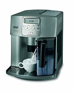 DeLonghi ESAM 3500 S Kaffeevollautomat Automatic Cappuccino (1350 W, 1.8 l, 16 bar, Milchsystem) Champagner-Silber