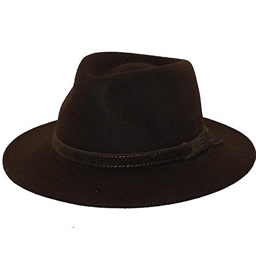 Chapeau-tendance - Chapeau Fedora Marron Houston - 56 - Homme
