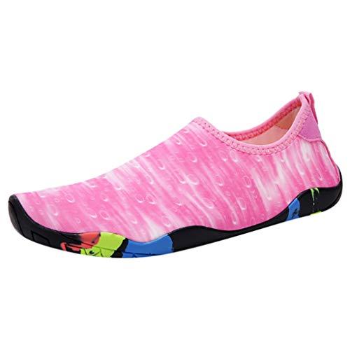 Fenverk Badeschuhe Herren Schwimmschuhe rutschfeste Wasserschuhe Damen Strandschuhe Aquaschuhe Surfschuhe Barfuß Wassersport Schuhe 35-46(Pink-a,37 EU) - Red Wing Herren-casual-schuhe