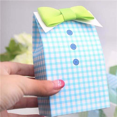 ttle Man Blau Grün Fliege Geburtstagskind Babypartybevorzugung Süßigkeiten Behandeln Tasche Hochzeit Gefälligkeiten Pralinenschachtel Geschenk Tasche ()
