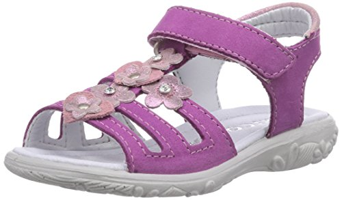 Ricosta Chica, Sandales ouvertes fille Rose - Pink (candy 330)