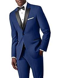 Suit Me Classic Mens 3 Piece Suit 1 Bot¨®n vestido de novia traje chaqueta Blazer chaleco pantalones