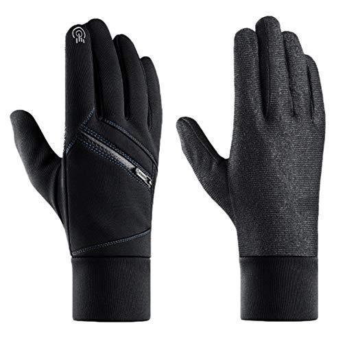 Qlans Männer Sporthandschuhe, wasserdichte Winddichte Touchscreen-Handschuhe für Camping im Freien, Ski, Laufen