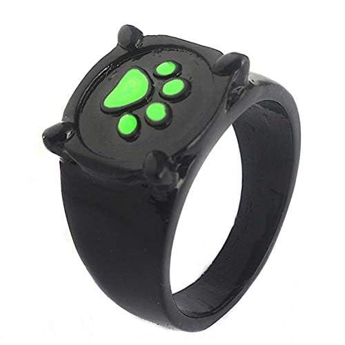 Inception Pro Infinite Anillo–Chat Noir–Ladybug–Color Negro–Pata de Gato Verde–Idea para Regalo–Niños–Adultos–(Medida Italiana 22) 4