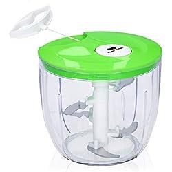 Koala Kitchen Multizerkleinerer mit Seilzug - Manueller Zwiebelhacker um Zwiebeln ohne Tränen zu schneiden - Zwiebelschneider, Gemüsezerkleinerer, Zerkleinerer Zerkleinerer mit Seilzug