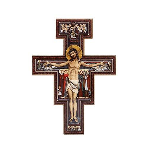 Josephs Studio San Damiano Kruzifix zeigt die Kreuzigung von Christus eine mit der Bilder der Anderen Heiligen, 11.75-inch