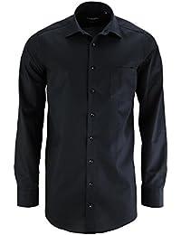 Chemise sans repassage Casa Moda Noir