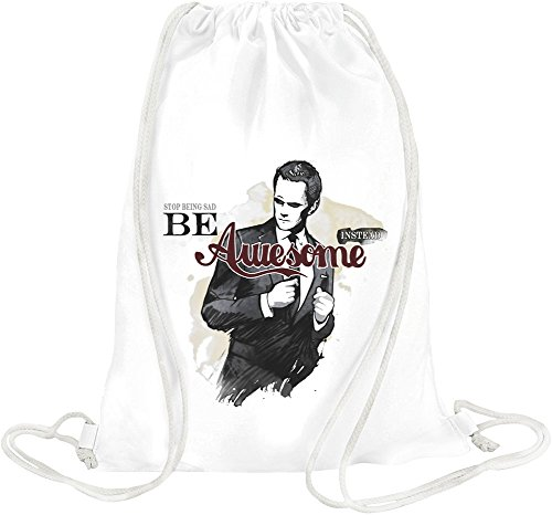 stop-being-sad-be-awesome-instead-slogan-drawstring-bag