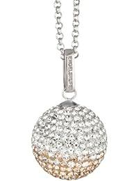 Engelsrufer Damen-Anhänger Zirkonia 925 Sterling Silber rhodiniert mehrfarbig Klangkugel Crystal rosé M ERP-16-ZI-M