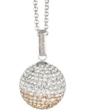 Engelsrufer Damen-Anhänger Zirkonia 925 Sterling Silber rhodiniert mehrfarbig Klangkugel Crystal rosé M ERP-16...