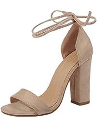 a9dba3d97252 Amazon.fr   chaussures talon carre noir   Chaussures et Sacs