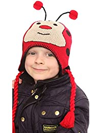 Childrens Fun Animal Peru Hats (Red Ladybird Design)
