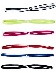 Under Armour UA Mini Headbands (6Pk) Venda, Mujer, Rojo (Red/White 601), Talla única