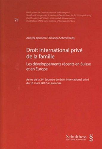 Droit international privé de la famille