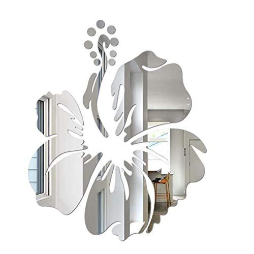 Jerfer adesivi muro wall sticker adesivi murali decorazione moderna dell'autoadesivo acrilico della parete di forma del fiore di diy 3d