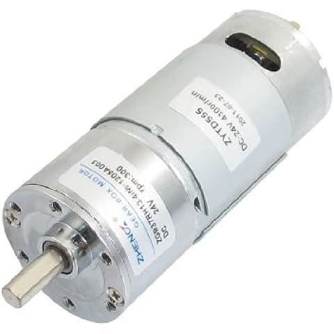 Sourcingmap - Zgb37rh 37mm x 89mm cuerpo máquina 2p orientado motor 24vdc 300 rpm