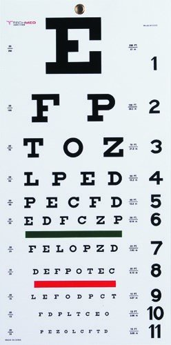 Complete Medical 4170 Snellen Eye Chart - Eye Chart