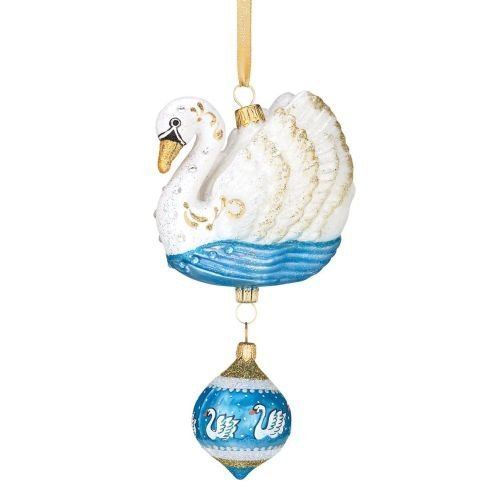 Lenox Swan (Reed & Barton European Glass Blown 12 Days of Christmas, Seven Swans a Swimming 2011 Ornament, Height 6.0 by Reed & Barton)